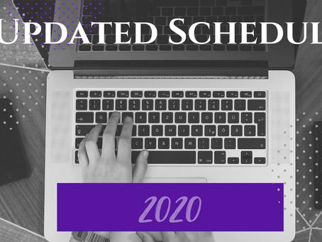 Updated Schedule: 2020