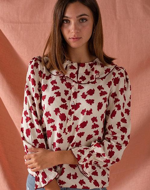 Blusa Touquet Borgoña Mujer