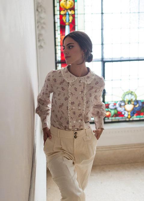 Blusa Antonieta Flores (ESTAMPADO EXCLUSIVO)