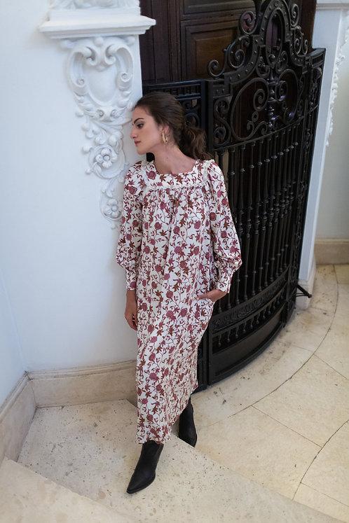 Vestido Canesú Fernanda ( ESTAMPADO EXCLUSIVO)