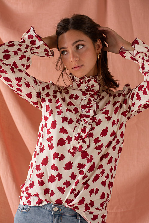 Blusa Jane Borgoña