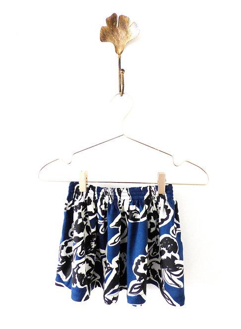 Falda  de Flores Azul Niña