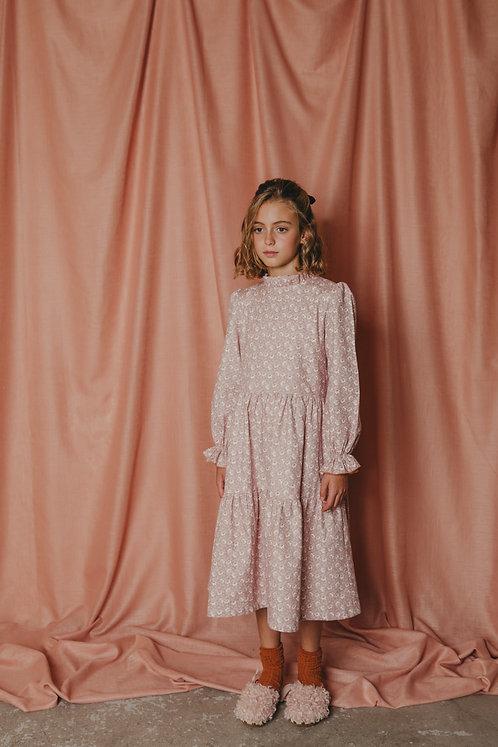 Vestido Adriana Flores Midi (8 y 10 años)