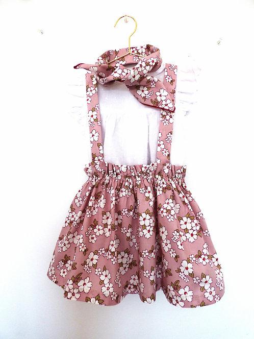 Falda con Tirantes Flores de Almendro