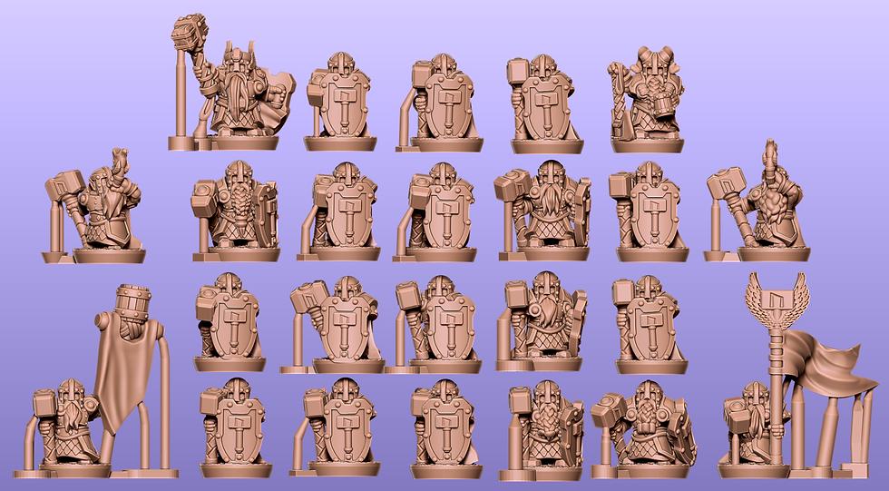Dwarf Warriors Separated: stl files
