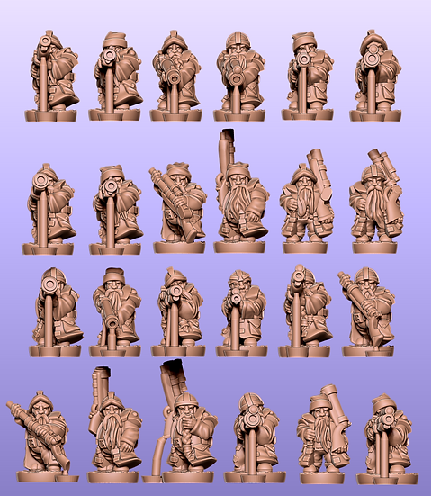Dwarf Gunners Separated: stl files