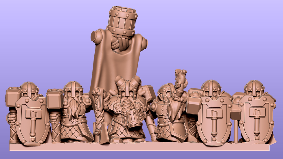 Dwarf Warriors: stl files