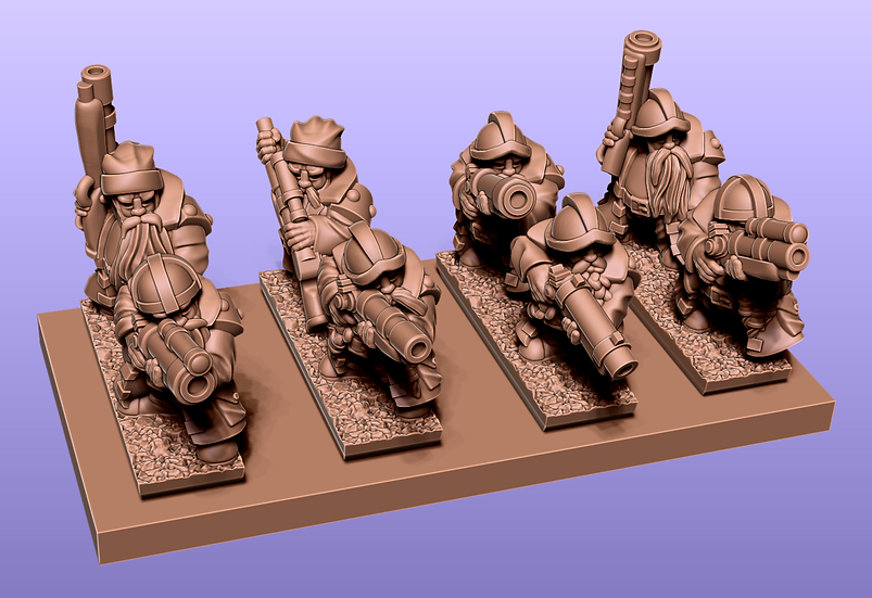Dwarf Gunners: stl files
