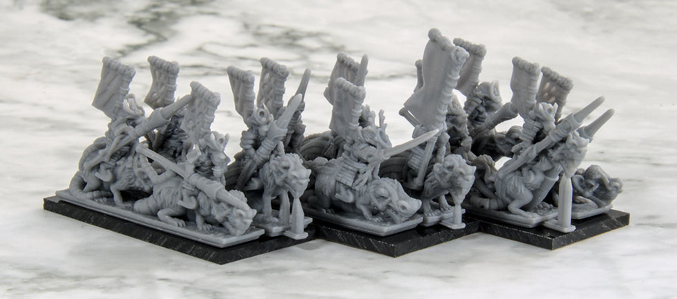 3D printed Mounted Samurai Ratmen