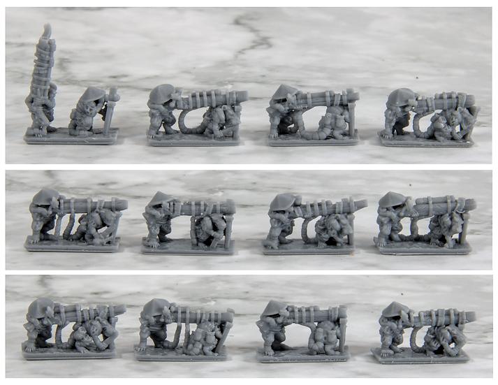 3D printed Ashigaru Boomers