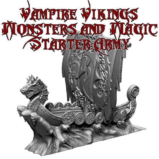 Vampire Vikings Monsters and Magic Starter Army