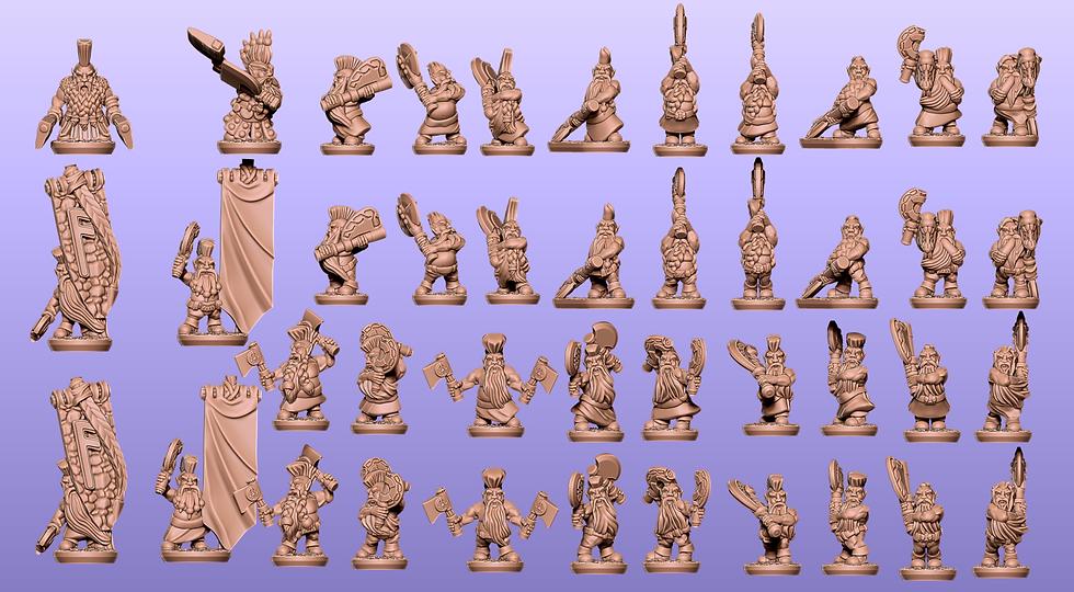 Dwarf Berserkers Separated: stl files