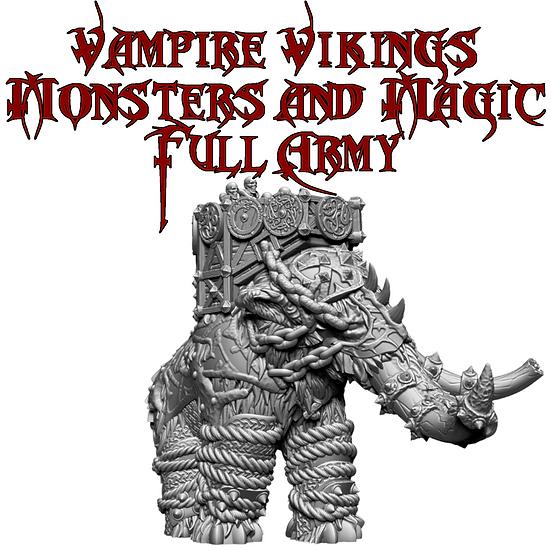 Vampire Vikings Monsters and Magic Full Army