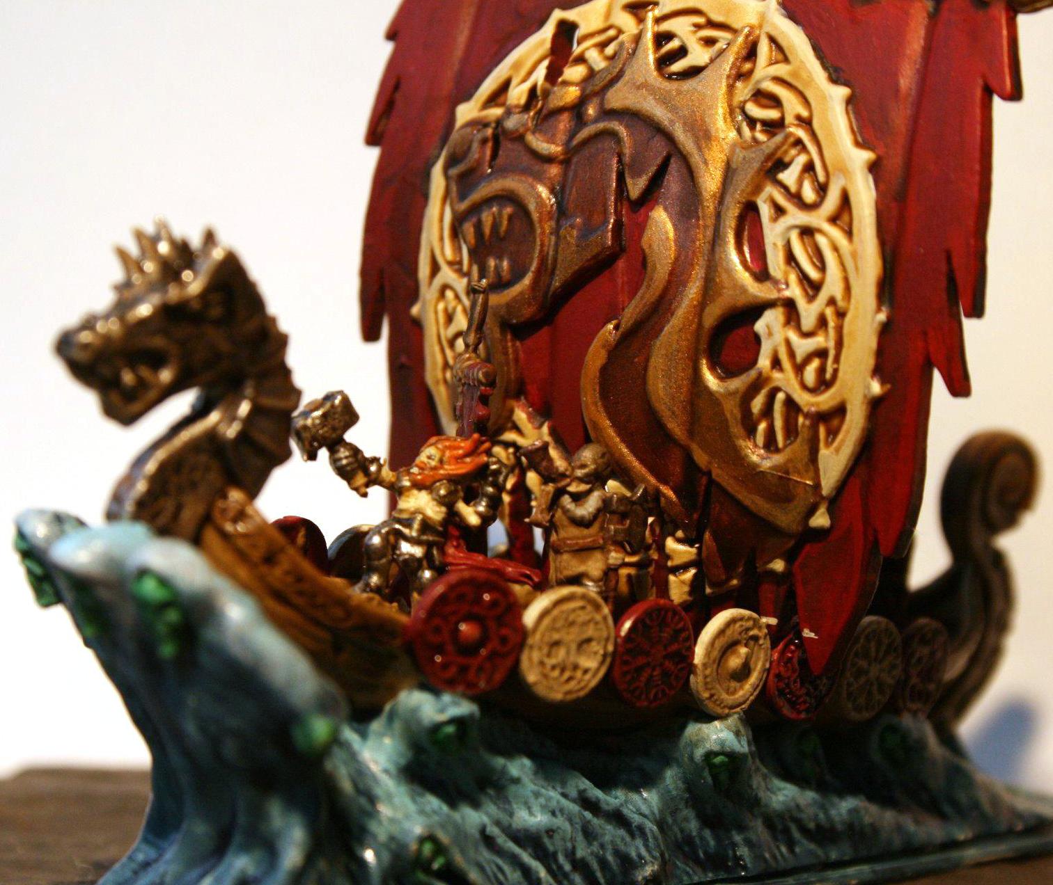 Dragon ship detail