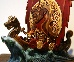 Dragon ship detail