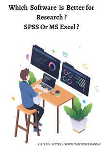 Which software is better for Research ? SPSS OR MS excel ?