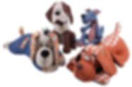 dogs organic plush toys merchendise.jpg