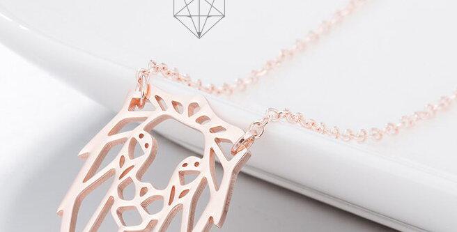 Collier origami Lion formes Géométriques