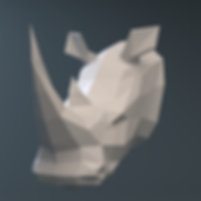 rhinoceros-head-3d-model-obj-fbx-stl-ble
