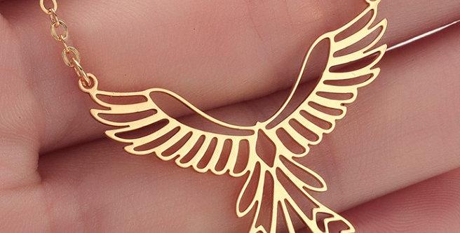 Collier Phoenix longue queue