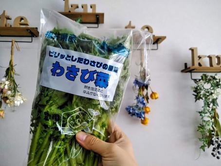 新しいサラダ野菜、わさび菜