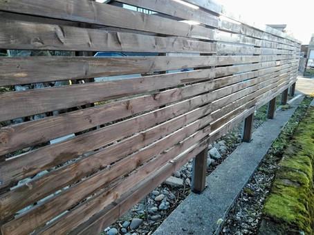 塀を作りました。