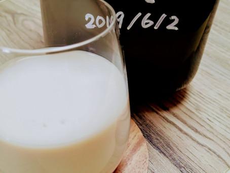 自宅で作ったコーヒーリキュールで、カルーアミルク