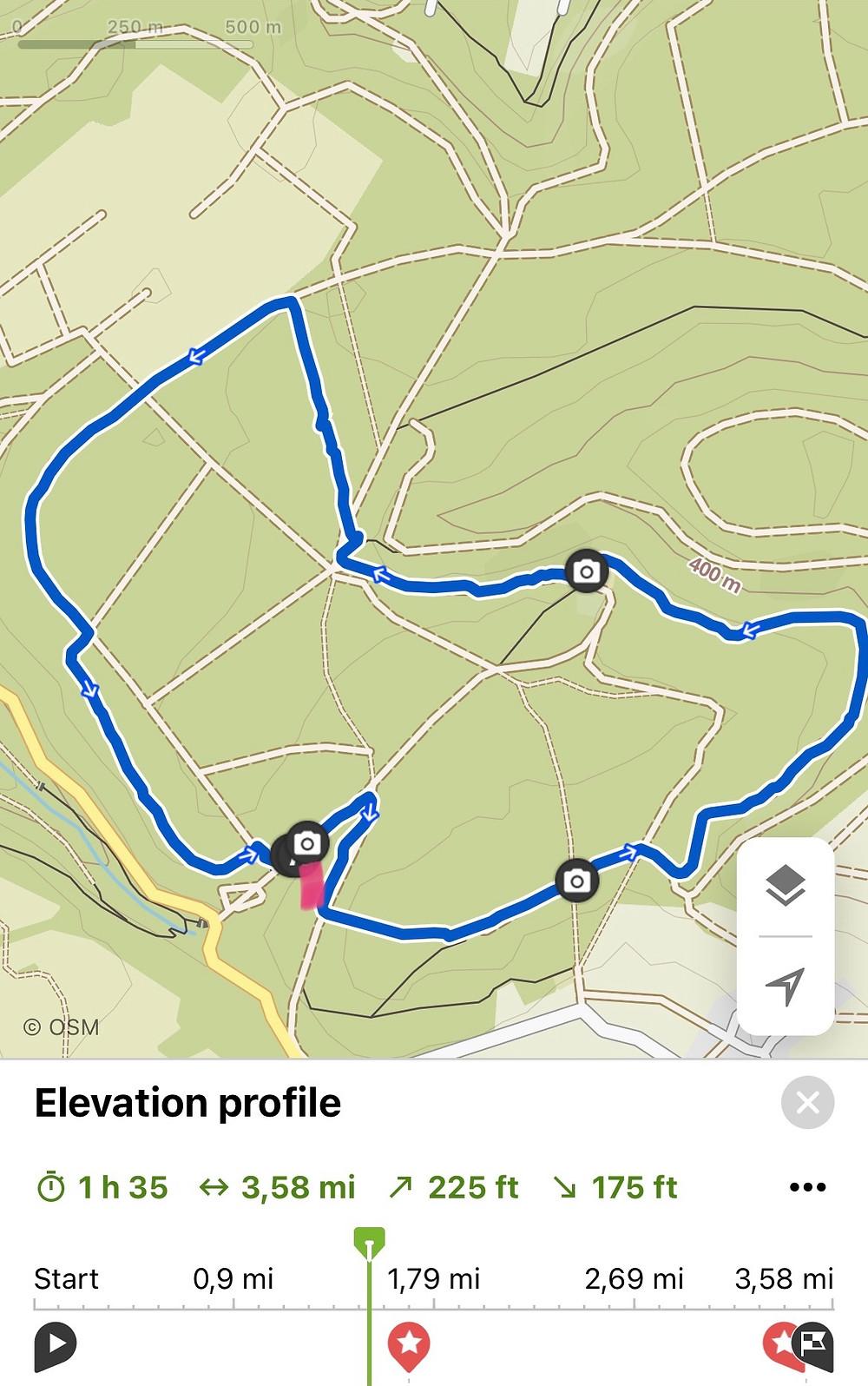 Käfer Safari Hike in Bruchmülbach-Miesau Map and Trail Guide