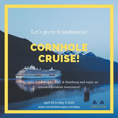 cornhole cruise flyer boat against mount