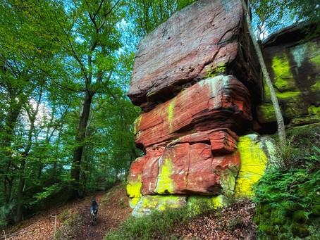 Breitenwald Fels Loop Hike in Landstuhl and Hauptstuhl Germany on the Camino de Santiago