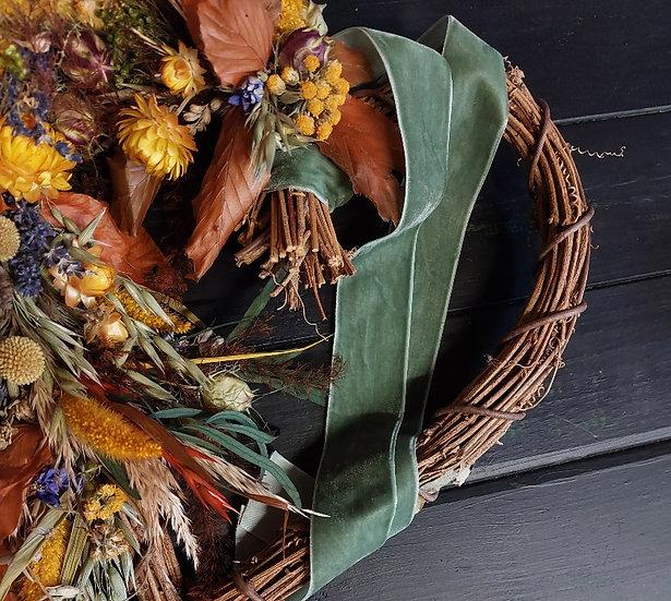 Autumn Dried Heart Wreath