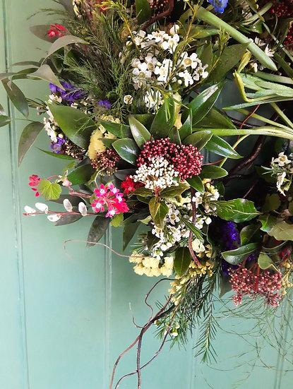 Spring Sings Natural Wreath