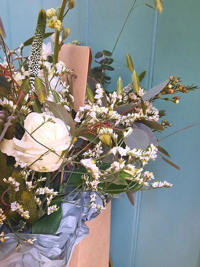 Effie - Hand-Tied Aqua Bouquet