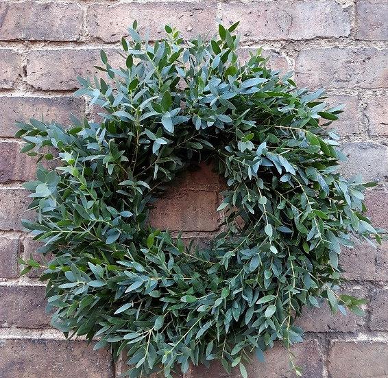 Natural Eucalyptus Welcome Wreath