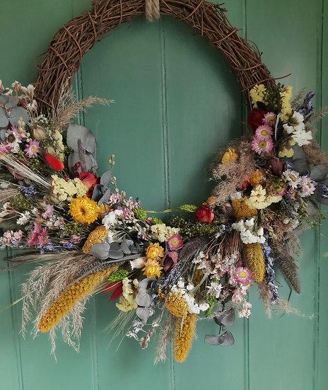 Summer Dried Wreath