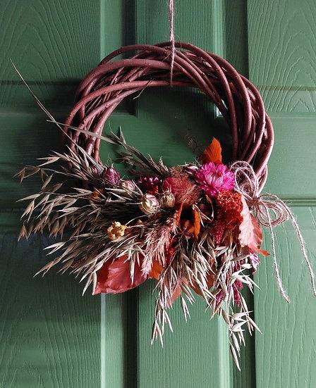 Autumn Willow Dried Wreath - Flora