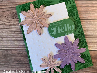 June Color Challenge with Sunny Sentiments and Daisies