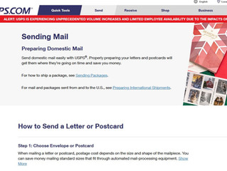 US Postal Service Mailing Guidelines