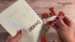 Labeling Cling Stamps - 2 Peel Backing f