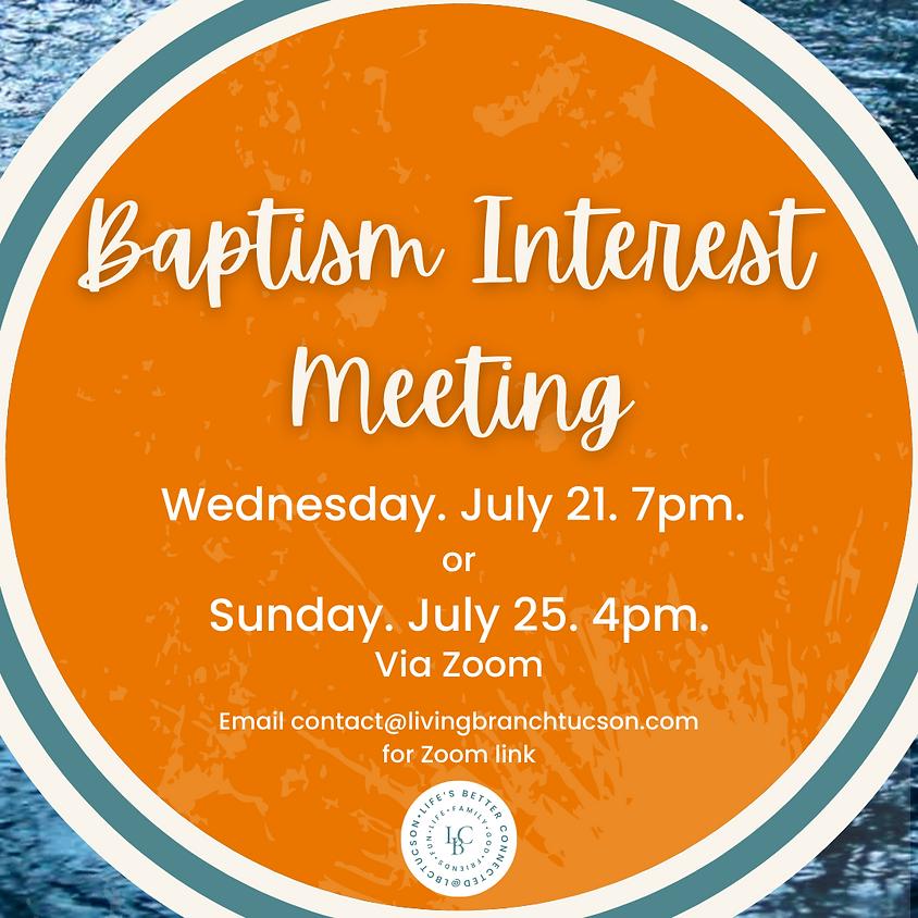 Baptism Interest Meeting