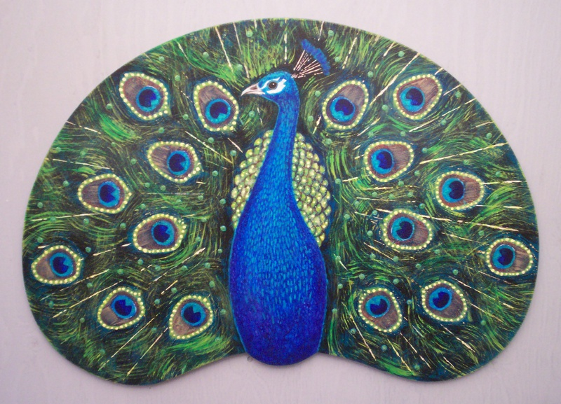 Peacock plaque