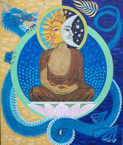 Sun-face Buddha / Moon-face Buddha