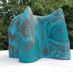 Blue and Rust Form (Henry Moore's Knees)