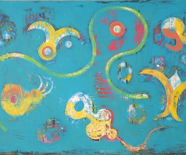 Turquoise Biomorphic, 2007