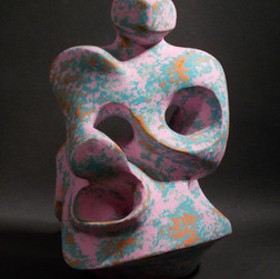 Pink and Blue Figure