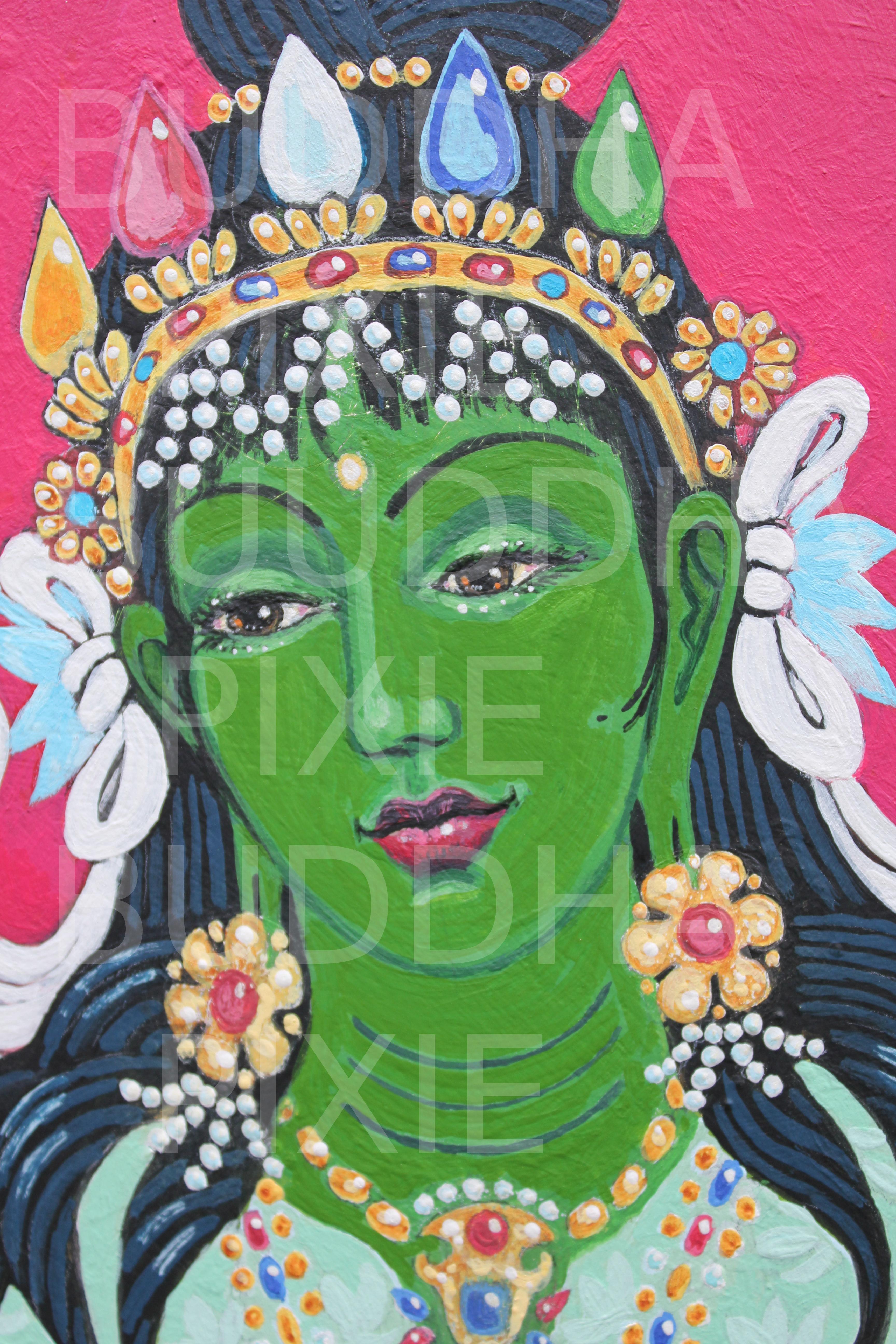 Green Tara (detail)