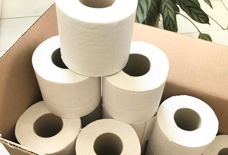 Recycled 2 ply toilet paper made in North Wales