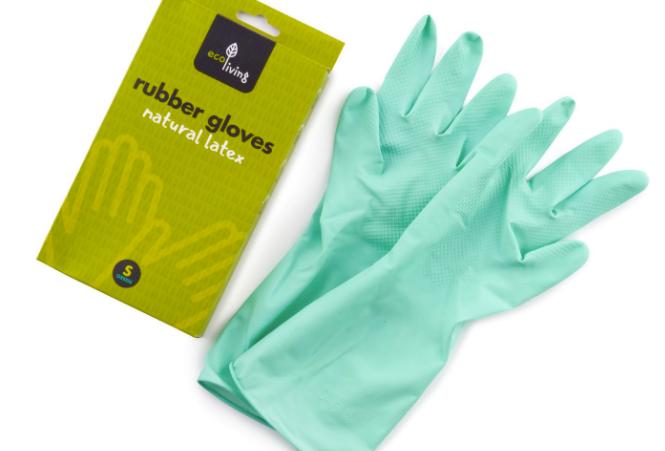 Natural Latex Rubber Gloves Green XL