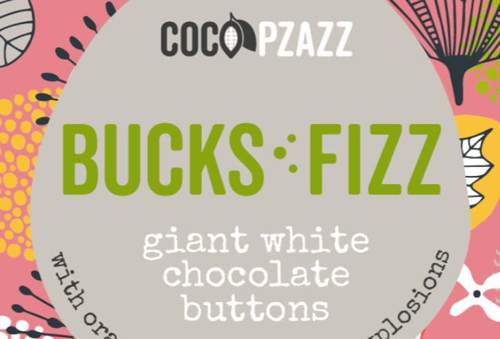Giant Buttons - Bucks Fizz White Chocolate