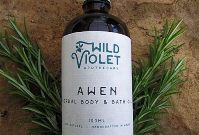 Awen-Herbal Body and Bath Oil, 100% Natural